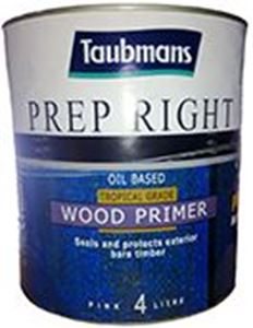 Picture of Taubmans Prep Right Oil Based Wood Primer Pink 4L